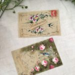 フランスアンティーク セルロイドポストカード 1枚